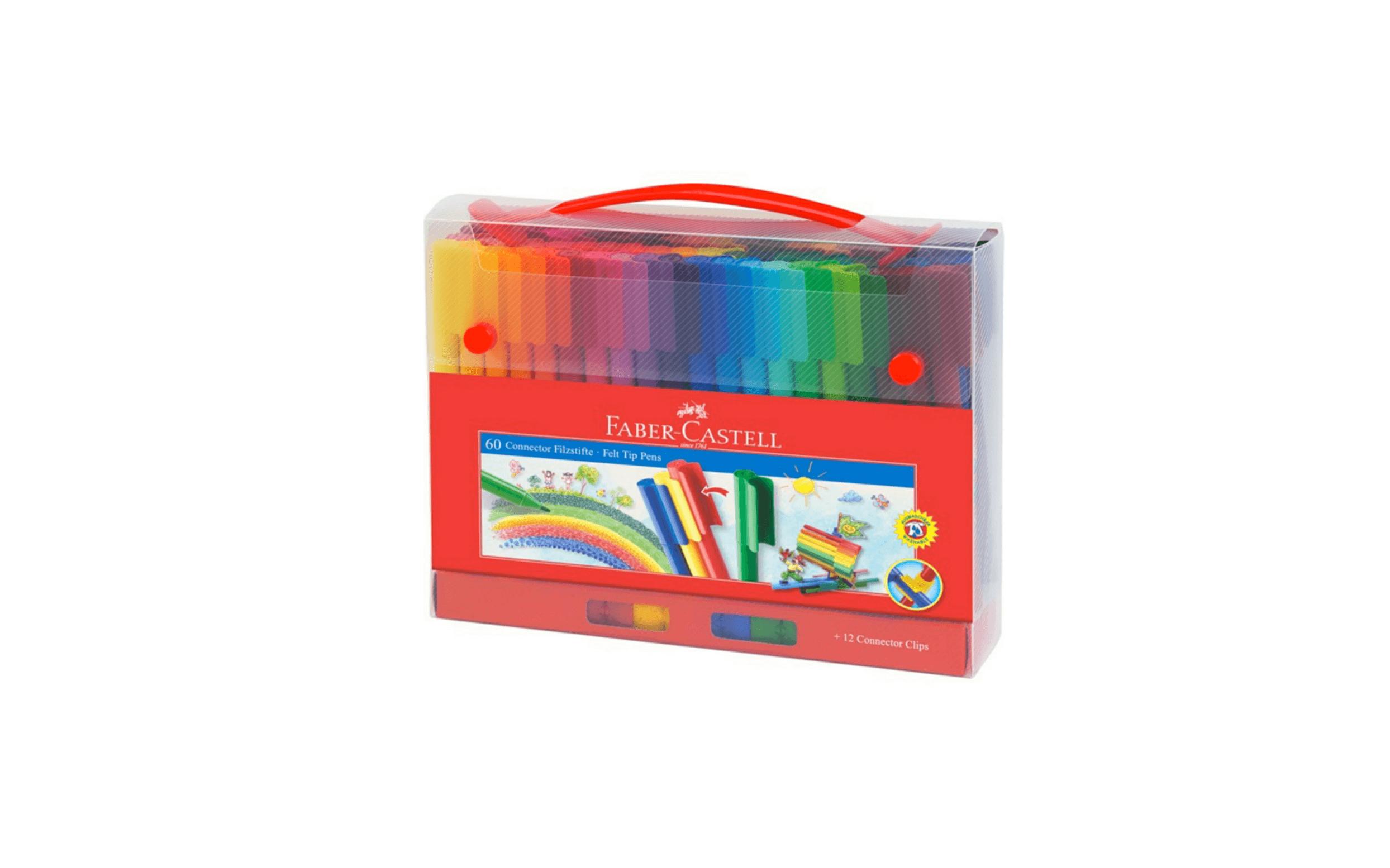Faber Castle Connector Coloring Pens – 60 Colors – Dbassa