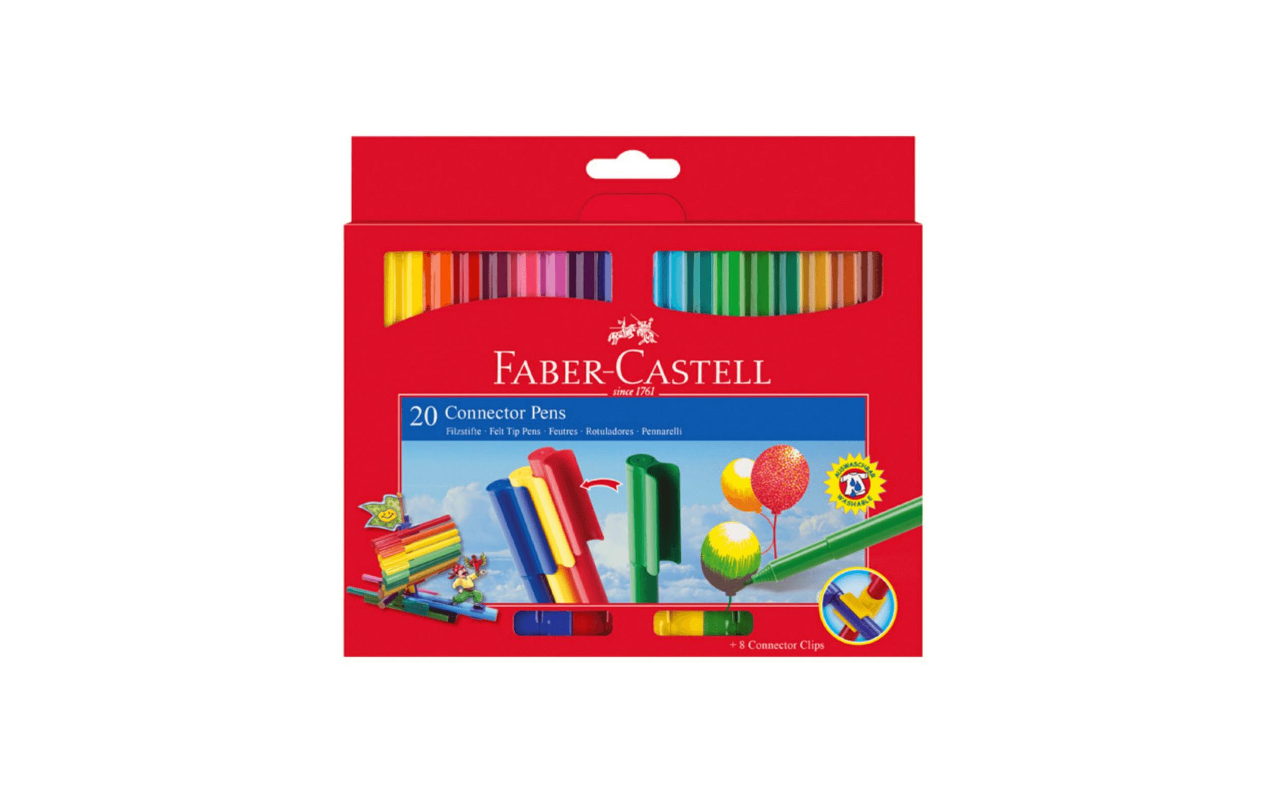 Faber Castle Connector Coloring Pens – 20 Colors – Dbassa